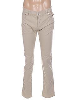 Pantalon casual beige CHEFDEVILLE pour femme