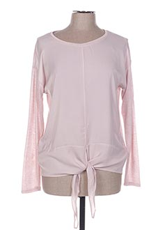 Pull col rond rose BROADWAY pour femme