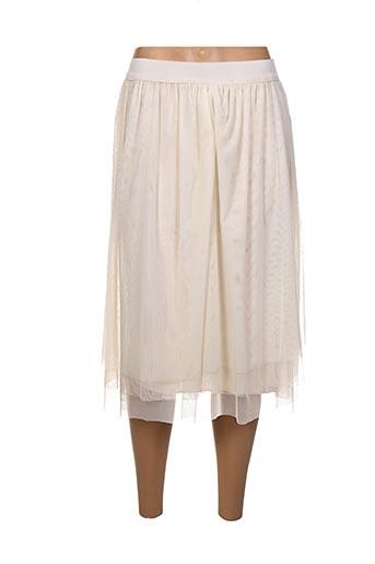 Jupe mi-longue beige ALEXANDRE LAURENT pour femme