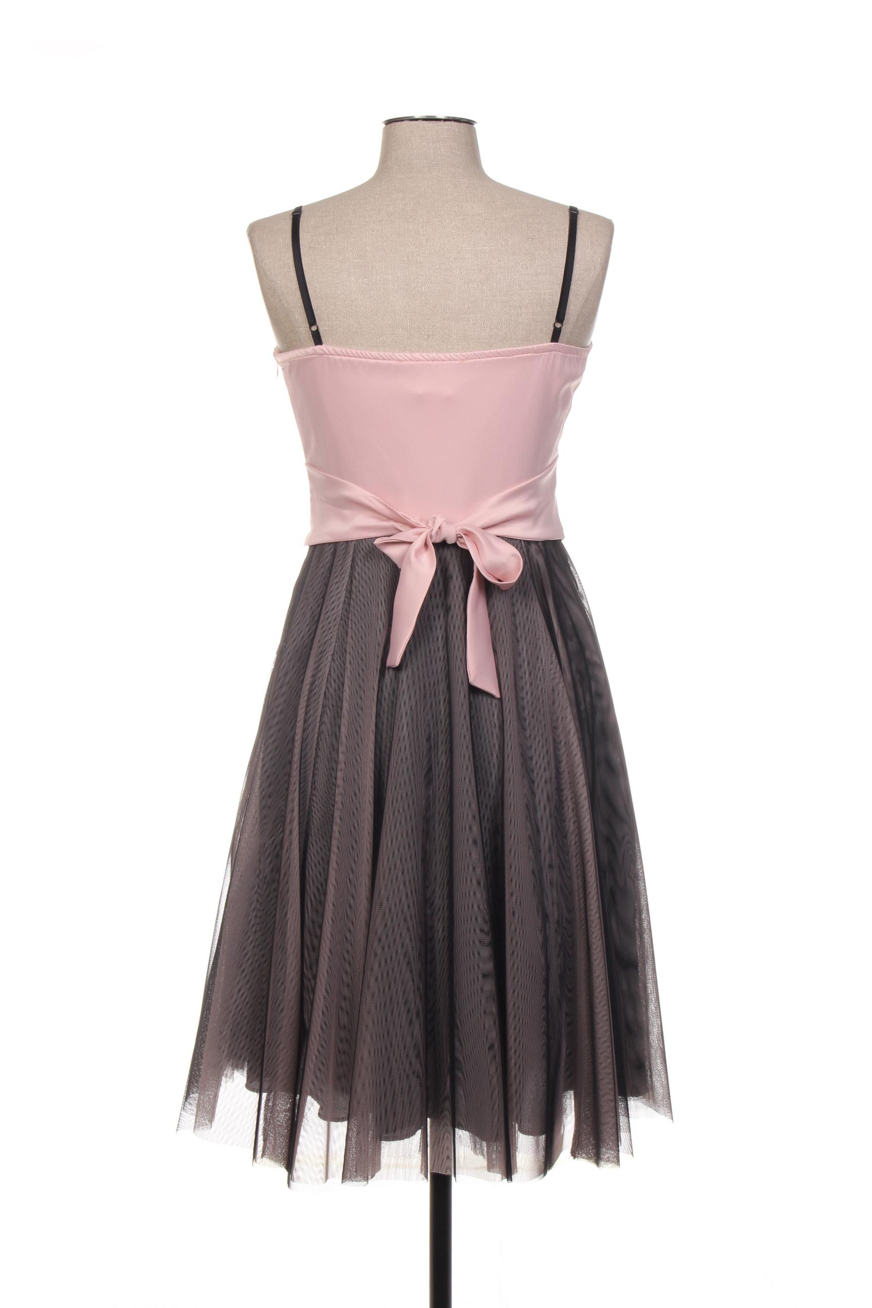 Rinascimento Robes Mi Longues Femme De Couleur Rose En Soldes Pas Cher 1410935-rose00