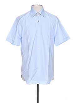 Chemise manches courtes bleu AUTHENTIQUE pour homme
