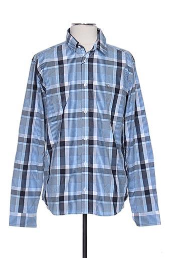 Chemise manches longues bleu COTTONFIELD pour homme