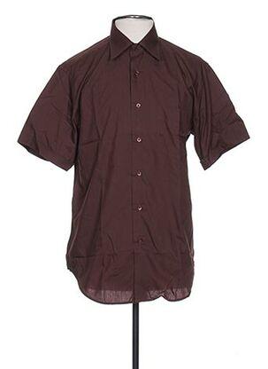 Chemise manches courtes marron AUTHENTIQUE pour homme
