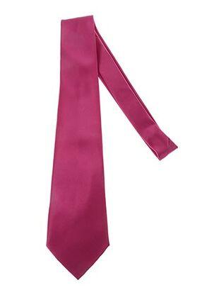 Cravate rose CLAUDE GABRIEL pour homme
