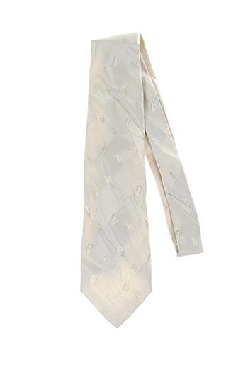 Cravate beige MAC-TY pour homme