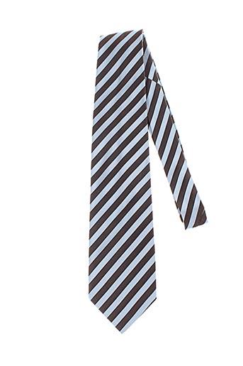 Cravate bleu GIAN ALBERTO CAPORALE pour homme