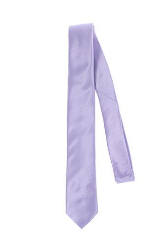 Cravate violet GREGE CREATION pour homme