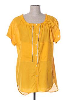Chemisier manches courtes jaune DIANA GALLESI pour femme
