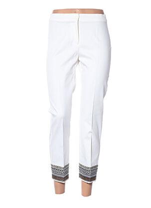 Pantalon 7/8 blanc DIANA GALLESI pour femme
