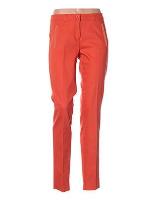 Pantalon casual orange DIANA GALLESI pour femme