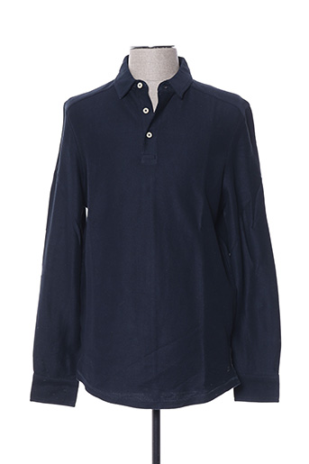 Polo manches longues bleu SELECTED pour homme