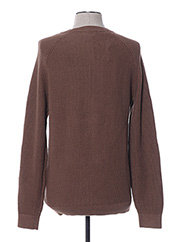 Pull col rond marron SELECTED pour homme seconde vue