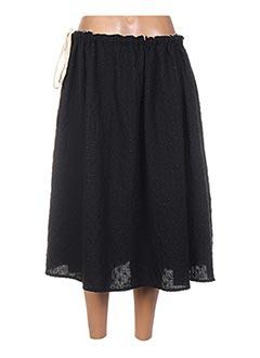 Jupe mi-longue noir APUNTOB pour femme