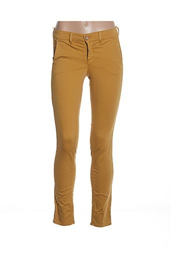 Pantalon casual jaune HOPPY pour femme