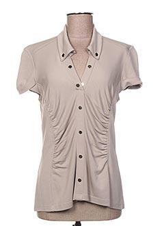 T-shirt manches courtes beige BUGARRI pour femme