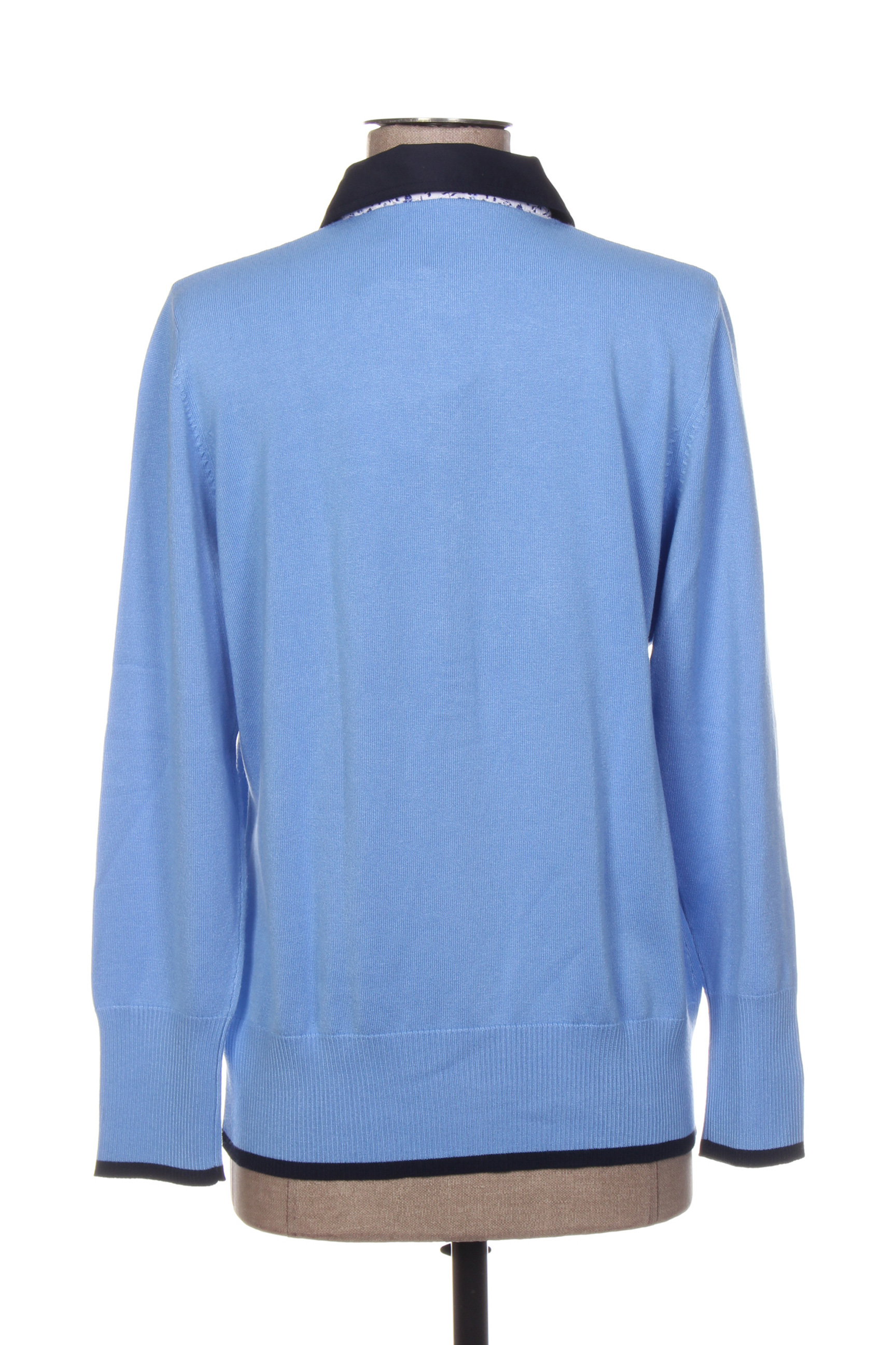Rabe Polos Manches Longues Femme De Couleur Bleu En Soldes Pas Cher 1407122-bleu00