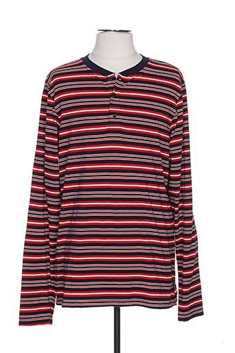 T-shirt manches longues rouge SCOTCH & SODA pour homme