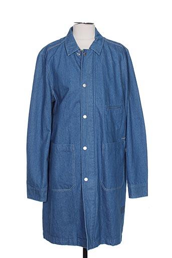 Manteau long bleu SCOTCH & SODA pour homme