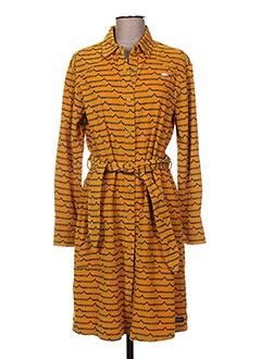 Robe mi-longue jaune MAISON SCOTCH pour femme