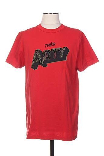 T-shirt manches courtes rouge SCOTCH & SODA pour homme