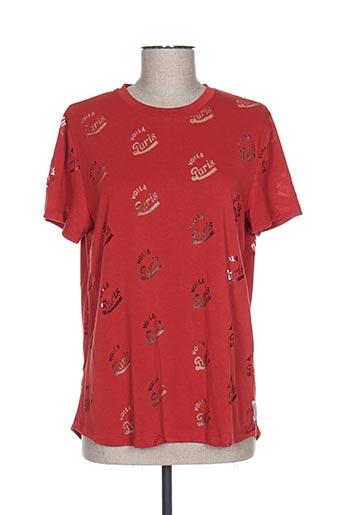 T-shirt manches courtes orange MAISON SCOTCH pour femme