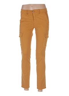 Pantalon 7/8 jaune HAPPY pour femme