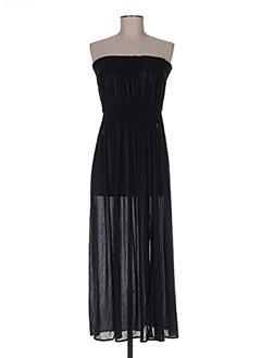 Robe mi-longue noir LEJABY pour femme