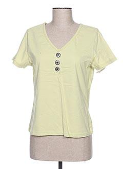 T-shirt manches courtes vert JAC JAC pour femme
