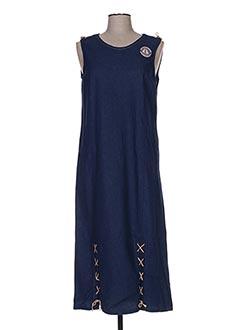 Robe longue bleu LES MARINS DE JAC JAC pour femme
