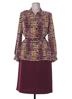 Veste/robe rouge FRANCE RIVOIRE pour femme