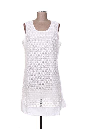 Robe courte blanc INDIAN EMPORIUM pour femme