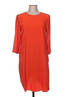 Robe mi-longue orange MANILA GRACE pour femme