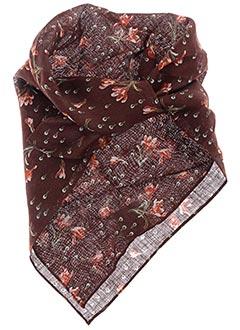 Foulard marron POLES pour femme