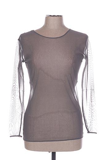 T-shirt manches longues gris IN WEAR pour femme