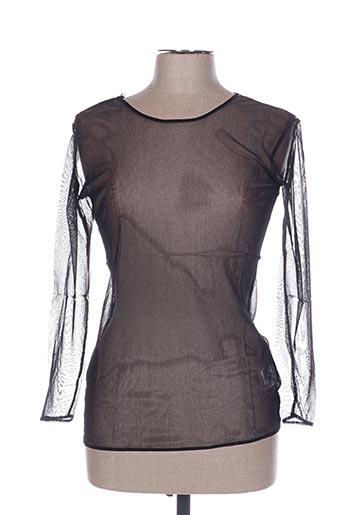 T-shirt manches longues noir IN WEAR pour femme