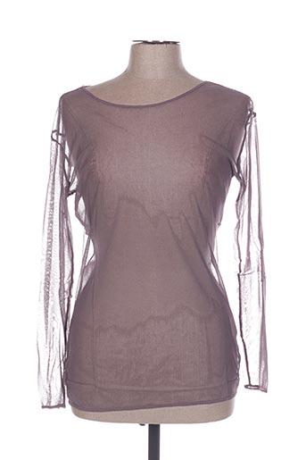 T-shirt manches longues violet IN WEAR pour femme
