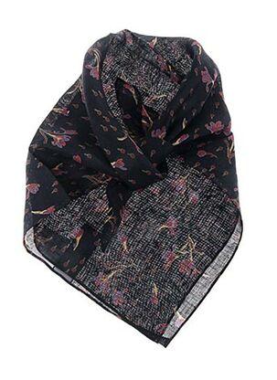 Foulard noir POLES pour femme