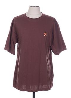T-shirt manches courtes marron ARTHUR pour homme