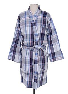 Robe de chambre bleu ARTHUR pour homme