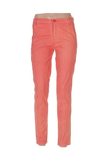 Pantalon 7/8 orange ACOTÉ pour femme