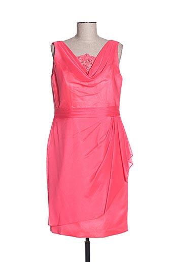 Robe mi-longue rose CREATIF PARIS pour femme