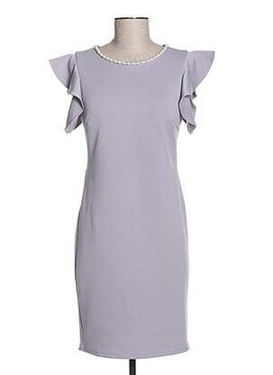 Robe mi-longue gris CHARM'S pour femme