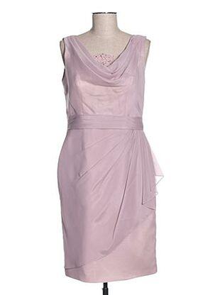 Robe mi-longue violet CREATIF PARIS pour femme