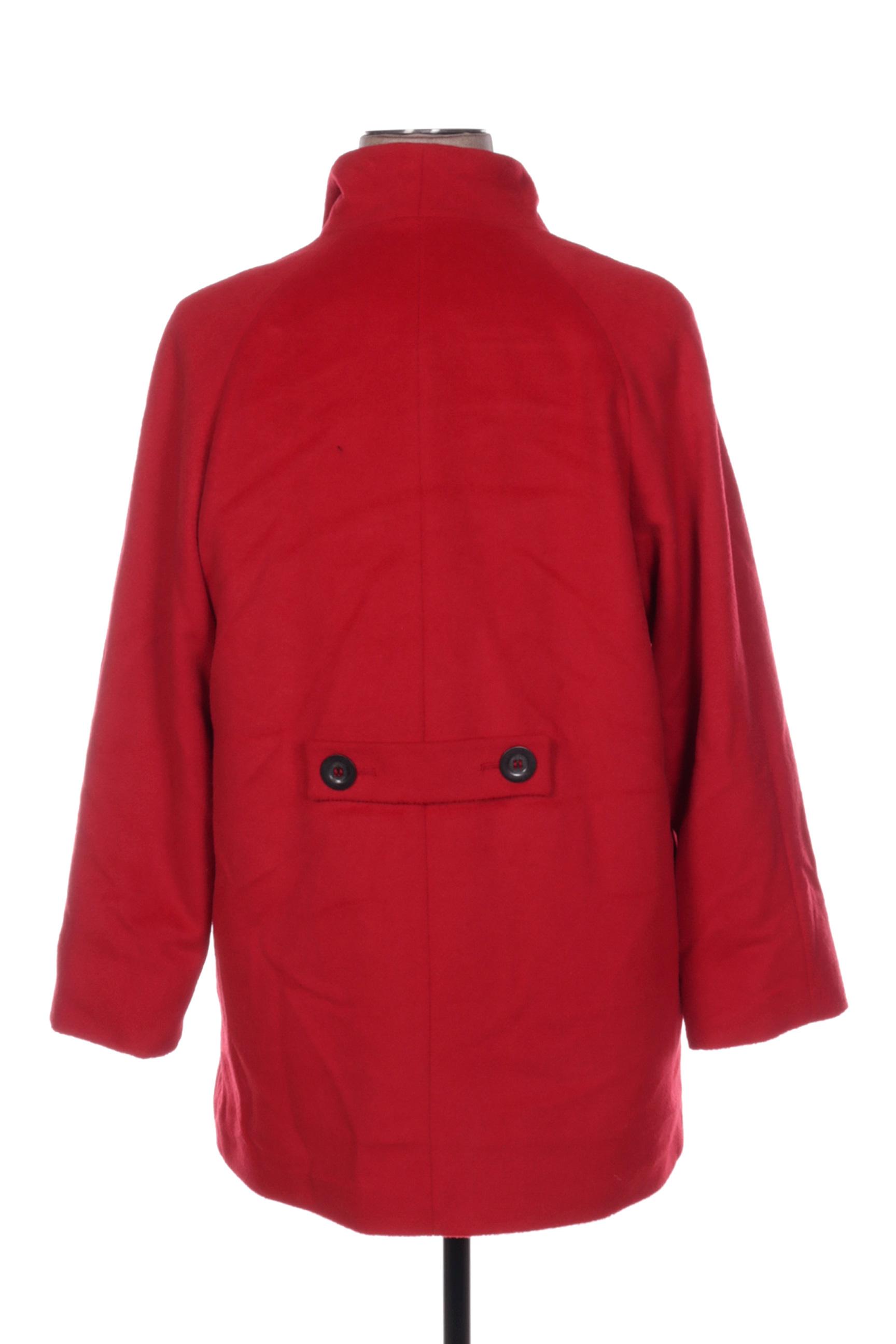 Christine Laure Manteaux Longs Femme De Couleur Rouge En Soldes Pas Cher 1436927-rouge0