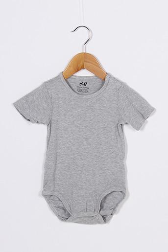 Body gris H&M pour garçon