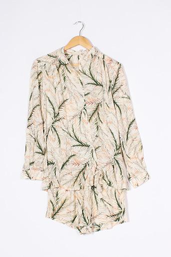 Pyjashort beige DARJEELING pour femme