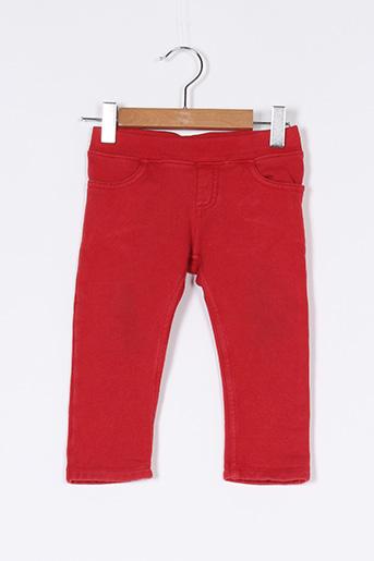 Pantalon casual rouge PETIT BATEAU pour garçon