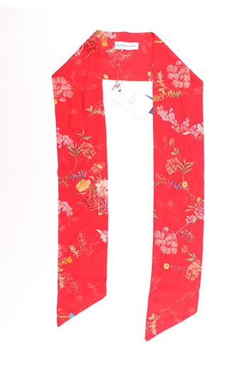 Foulard rouge CHRISTINA ROHDE pour femme