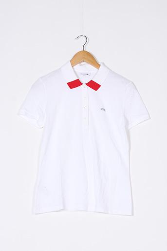 Polo manches courtes blanc LACOSTE pour femme