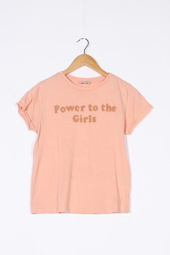T-shirt manches courtes orange CLOCKHOUSE pour femme
